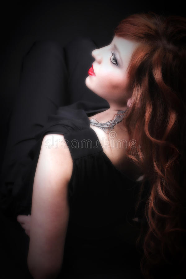 Download Lovely Redhead - Young Beautiful Red Haired Woman Stock Image - Image: 33541903