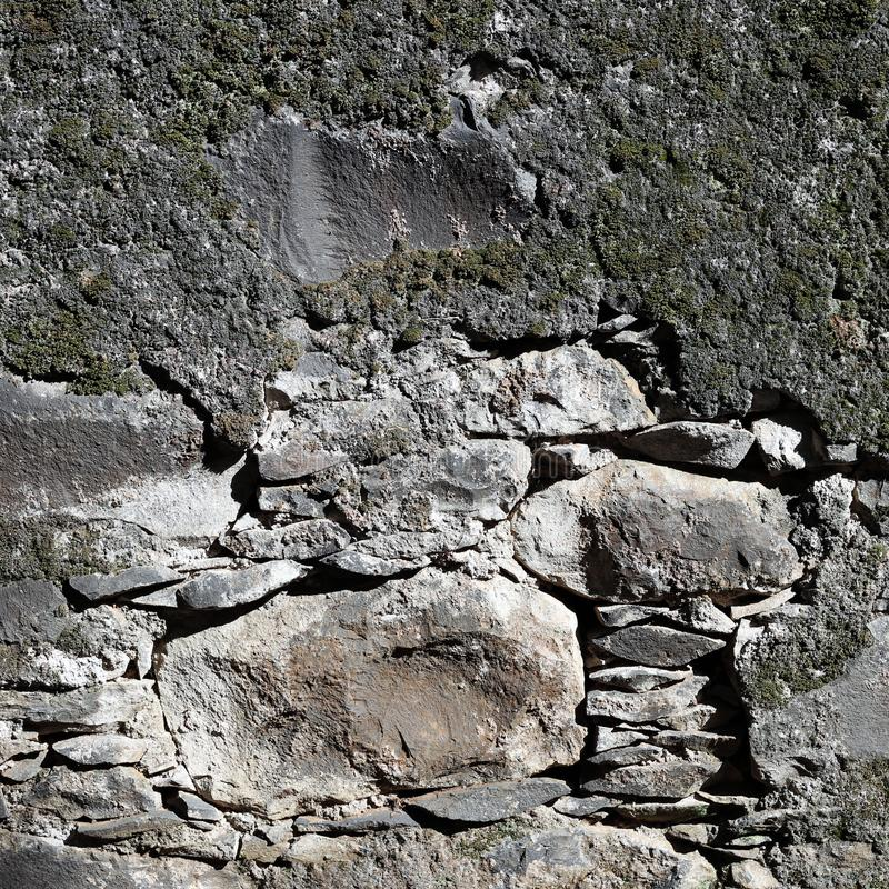 Concrete And Colored Stone Wall Stock Image Image Of