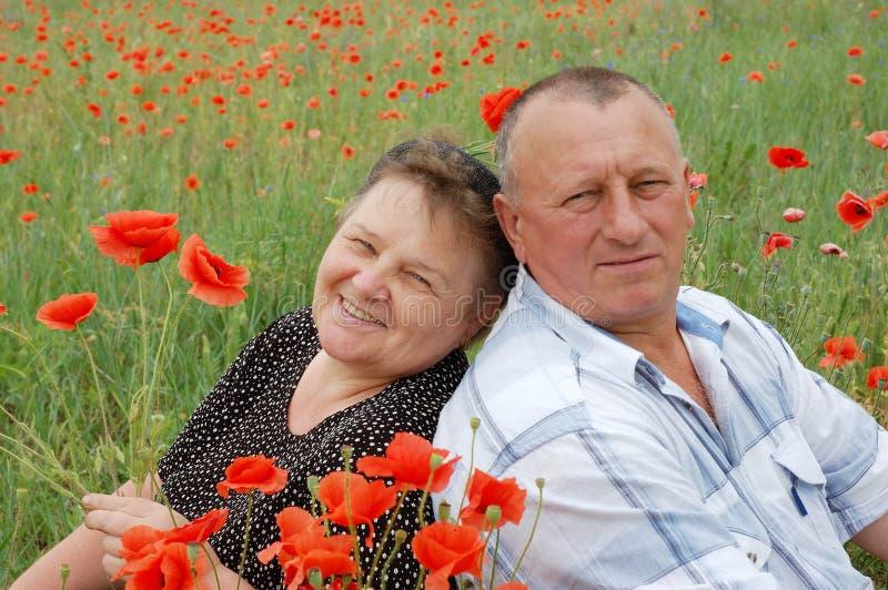 Lovely senior couple royalty free stock photo