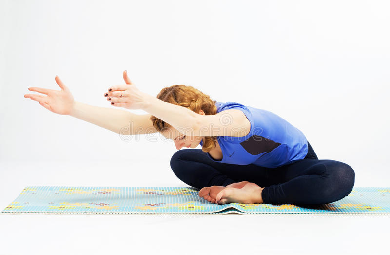 Download Lovely Sporty Woman Doing Stretching Exercise Stock Image - Image: 25390755