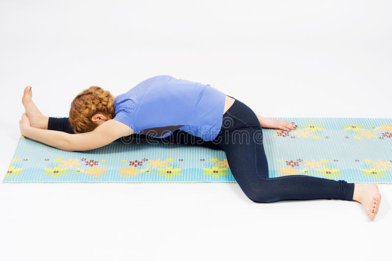 Download Lovely Sporty Woman Doing Stretching Exercise Stock Image - Image: 25390759