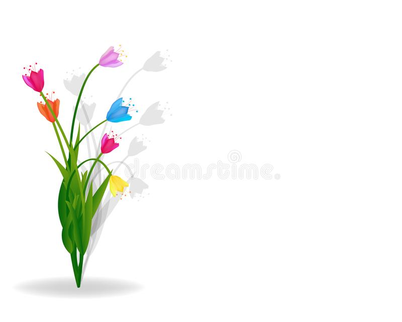 Lovely spring background with tulip flowers vector image royalty free illustration