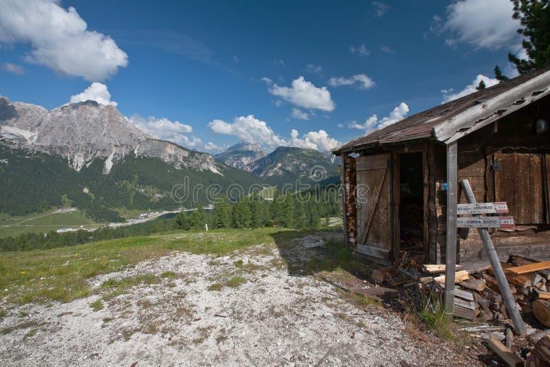 Lovely summer alpine scenery royalty free stock photo