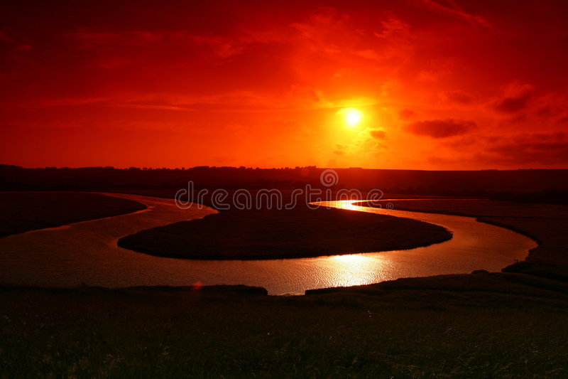 lovely sunset στοκ εικόνες
