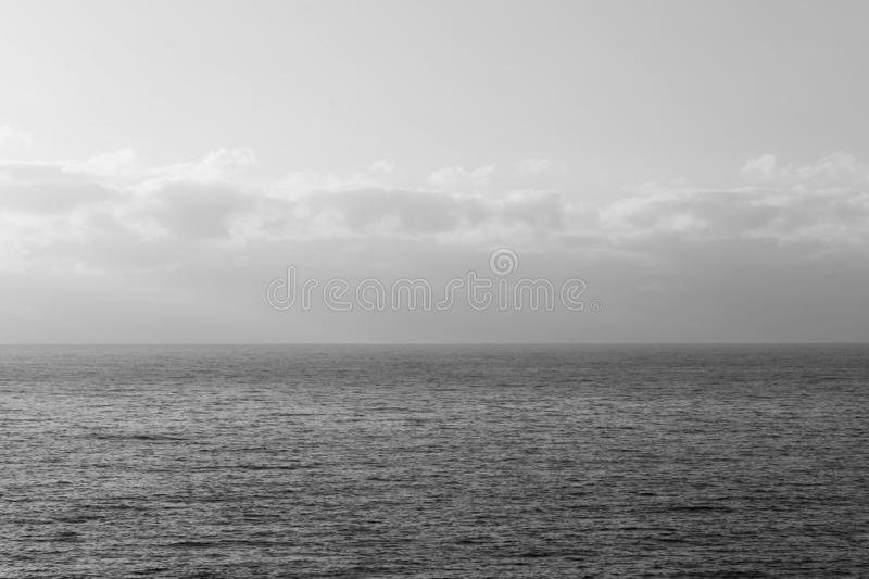 Lovely Sunset Over the Sea in Madeira - Some Clouds and Calm Sea stock images