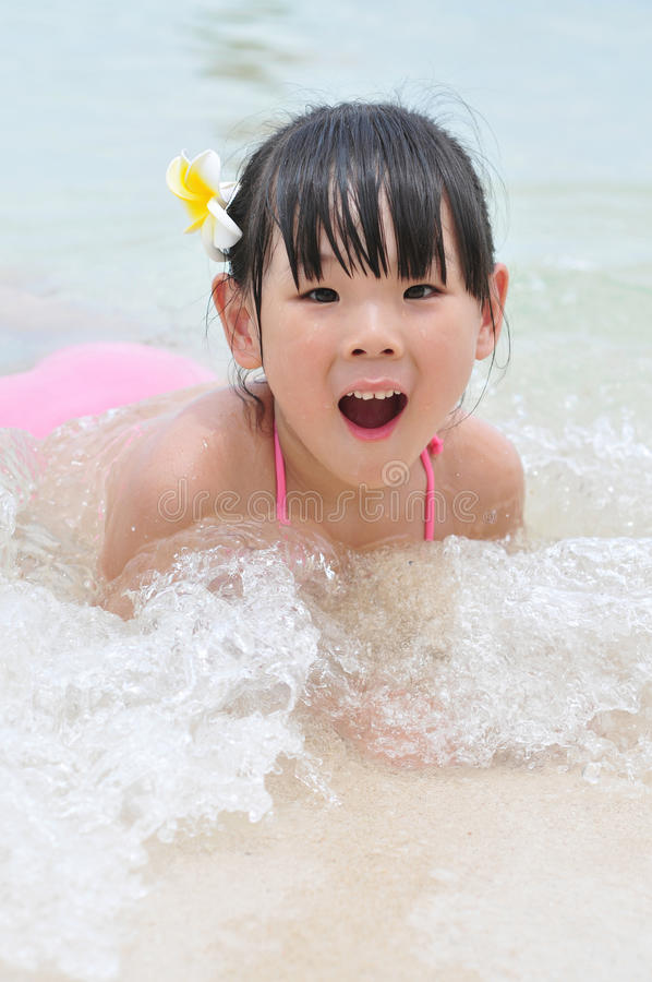 Download Lovely swimming girl stock image. Image of asia, summer - 28183409