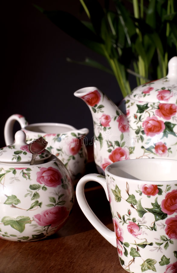 Download Lovely tea service stock image. Image of flowers, teacup - 515937