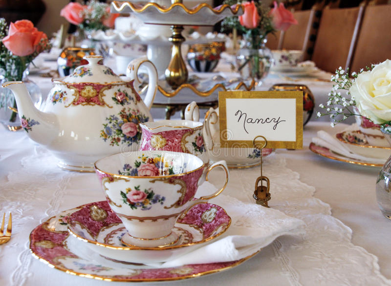 Lovely Tea Time Table Setting Stock Image Image Of Table