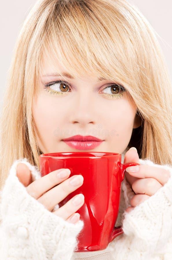 Download Lovely Teenage Girl With Red Mug Stock Image - Image: 11895011