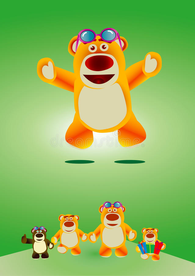 Lovely toy bear stock image