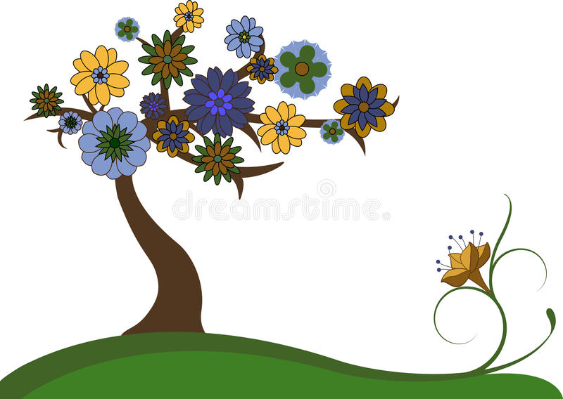 Download Lovely tree stock vector. Illustration of plant, decoration - 24813618