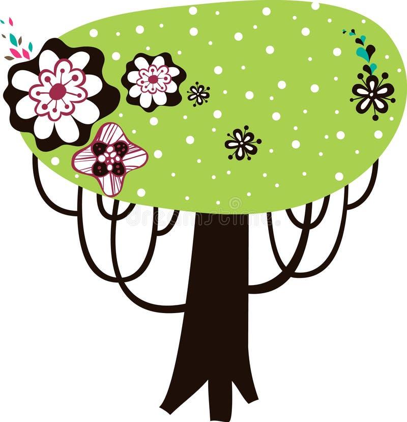 Lovely tree design. Simple lovely tree graphic design vector illustration