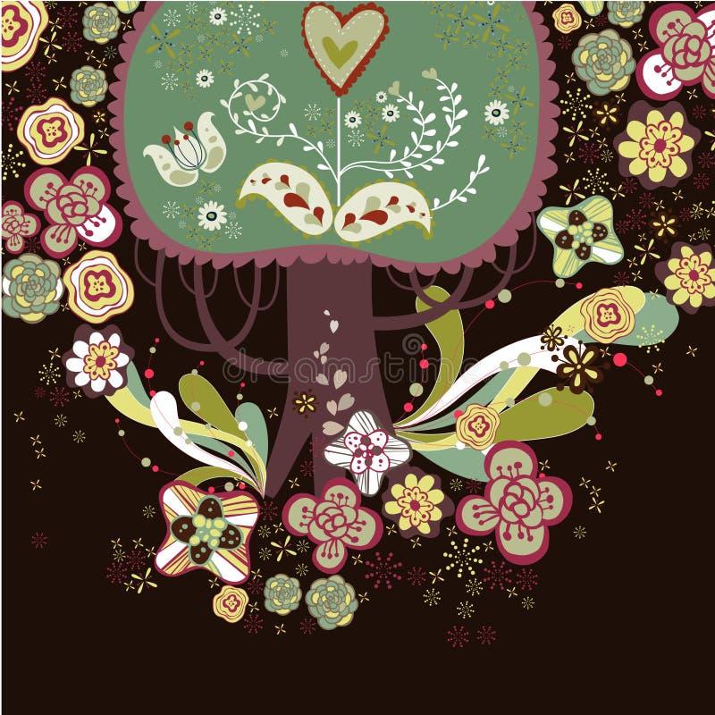 Download Lovely tree design stock illustration. Image of landscape - 9016376