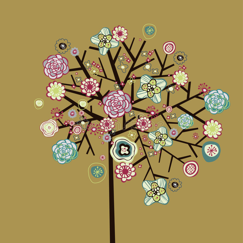 Download Lovely tree design stock illustration. Image of garden - 9016656