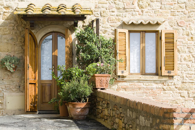Lovely Tuscan Entrance Stock Photo. Image Of House, Detail