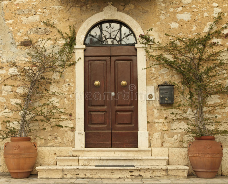 Lovely Tuscan Front Door, Italy Stock Image