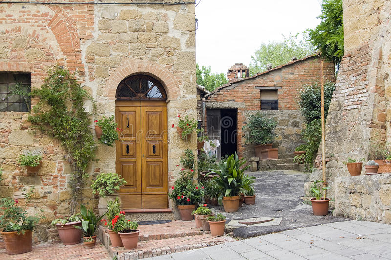 Lovely Tuscan Street Stock Photo. Image Of Floral, Florid