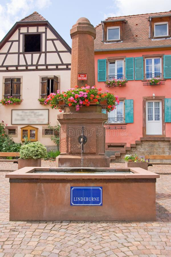 Lovely village near Onzain. Lindeburne - A small village near Onzain - France with colored houses royalty free stock photo