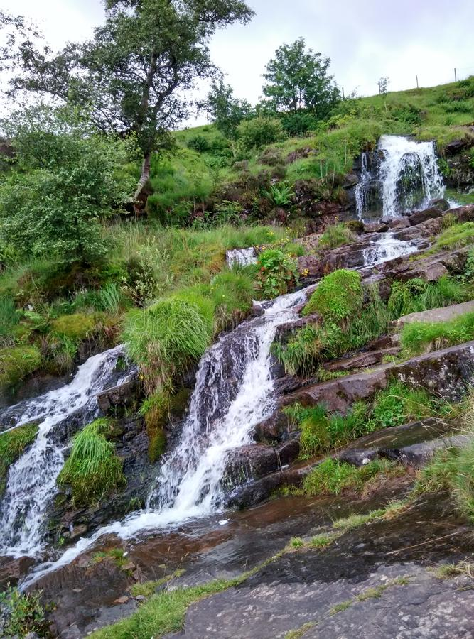 Lovely waterfall in Europe royalty free stock photography