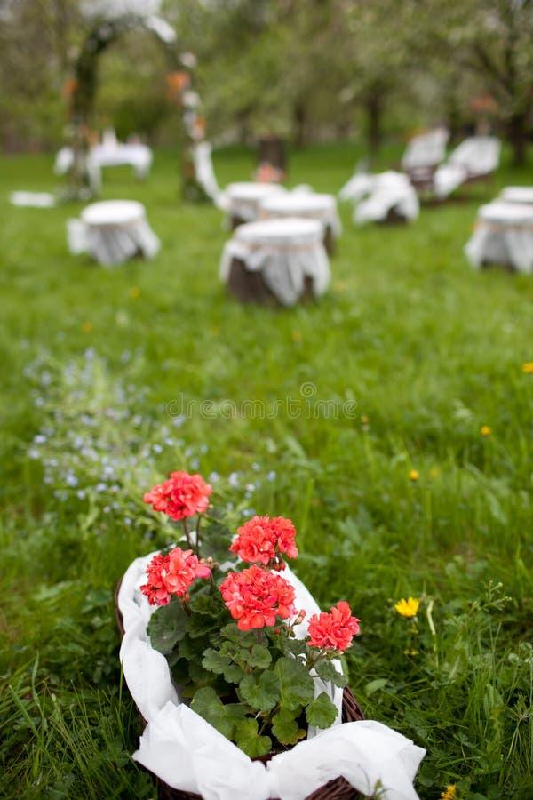 Lovely wedding ceremony venue royalty free stock image