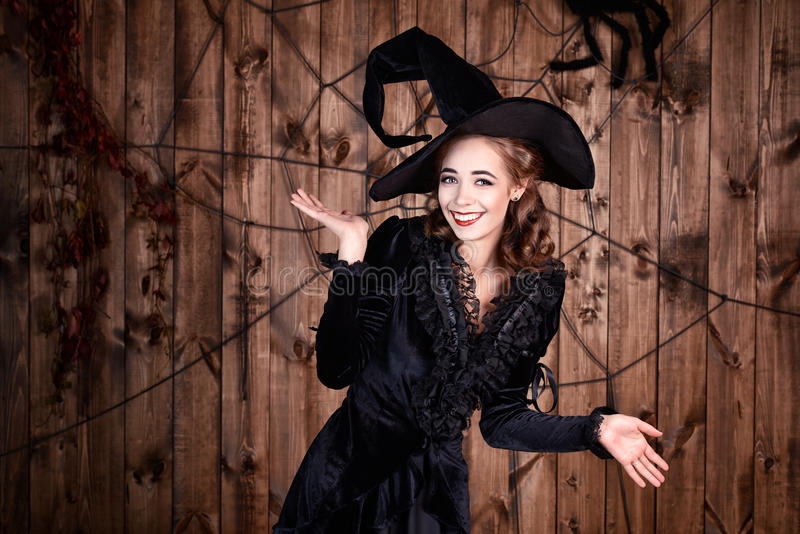 Lovely witch royalty free stock image