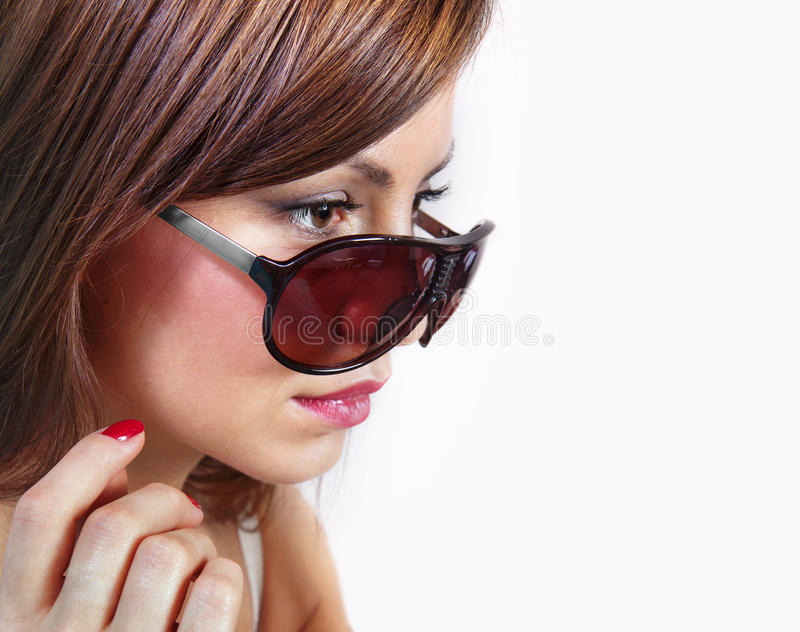 Download Lovely woman stock photo. Image of babe, glasses, female - 24929158
