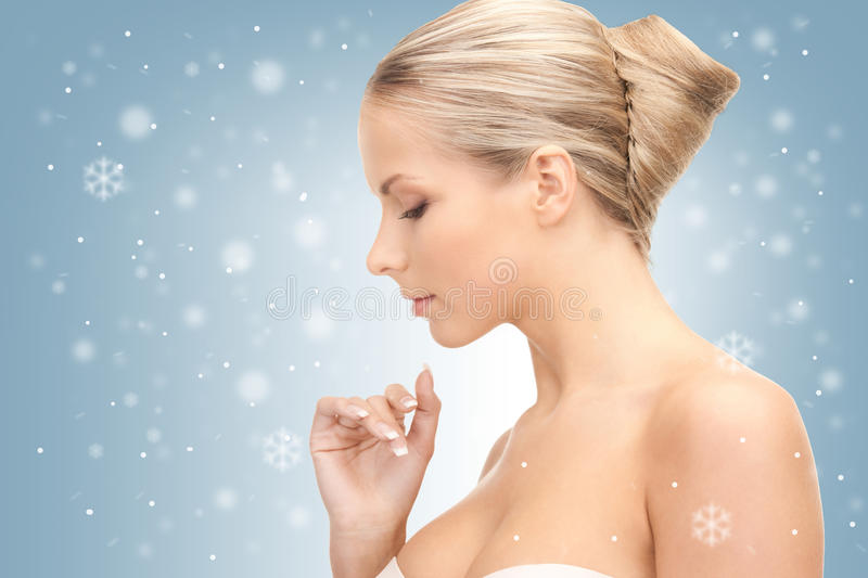 Download Lovely woman stock photo. Image of charming, merry, face - 39430426