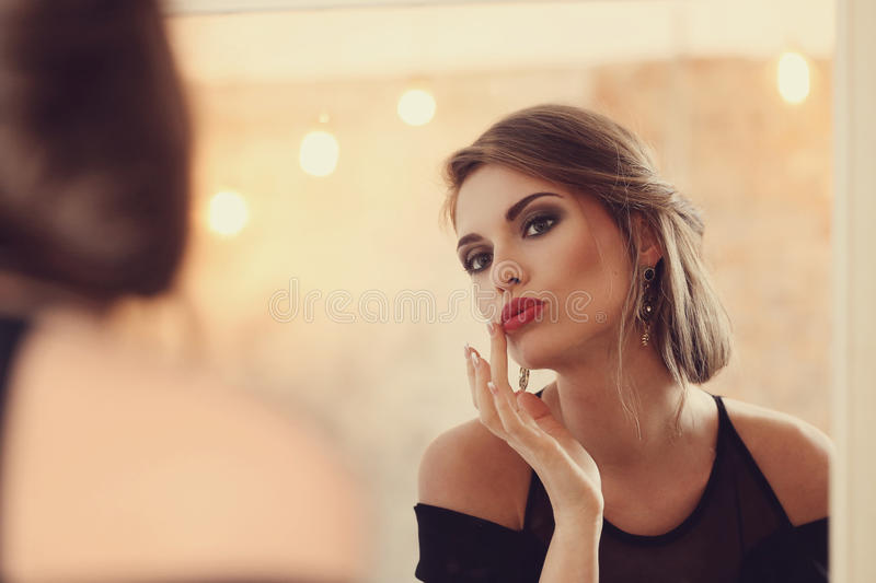 Lovely woman stock image