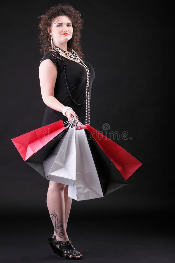 Download Lovely Woman With Shopping Bags Stock Image - Image: 22885871