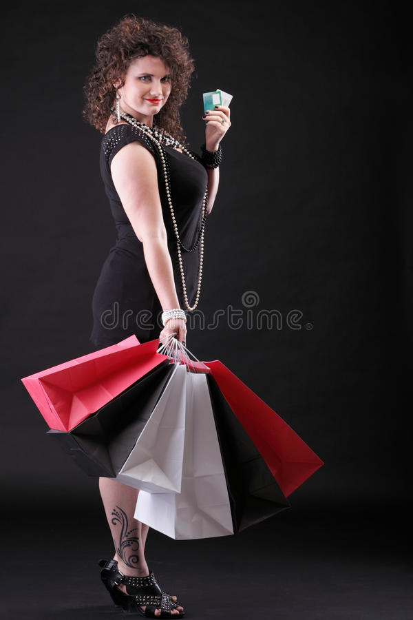 Download Lovely Woman With Shopping Bags Stock Image - Image: 33541985