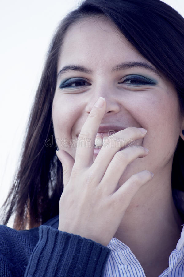 Lovely woman smiling