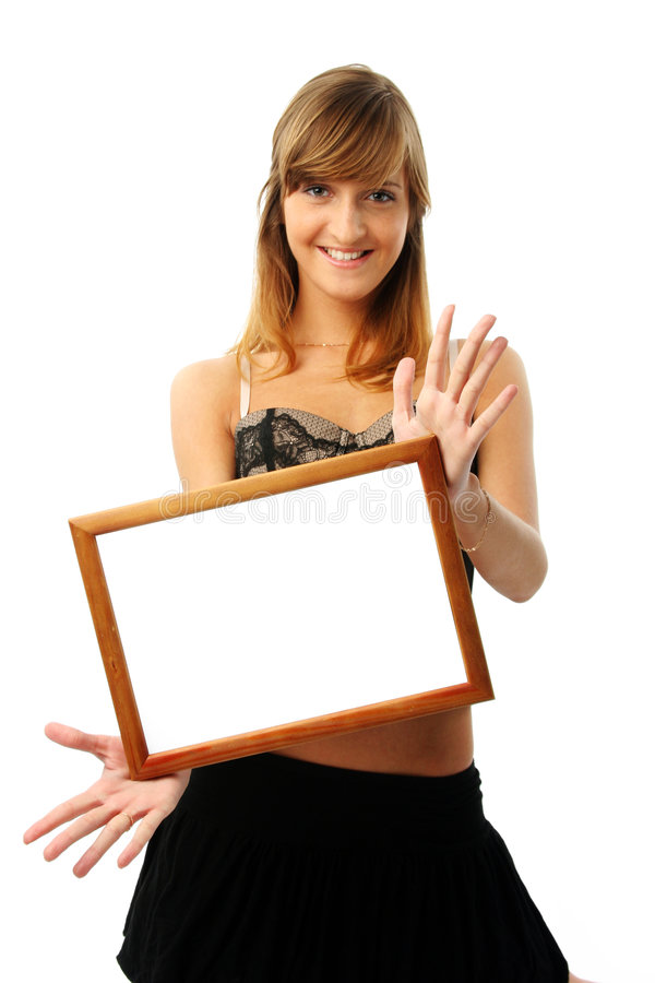 Free Lovely Woman With Frame Stock Photo - 2302850