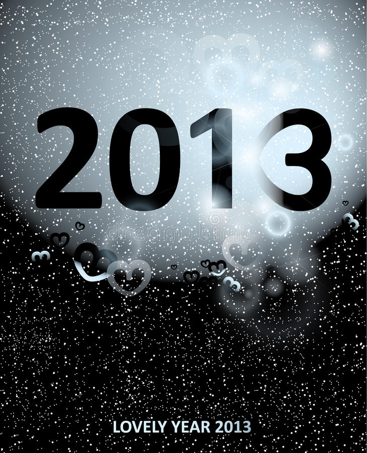 Download LOVELY YEAR 2013 stock vector. Image of december, romantic - 26605533