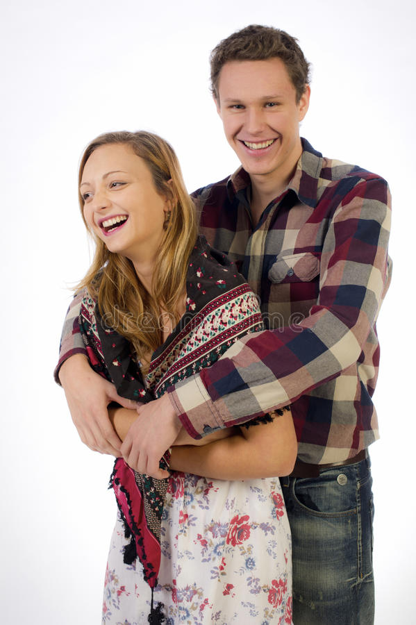Lovely young couple stock image