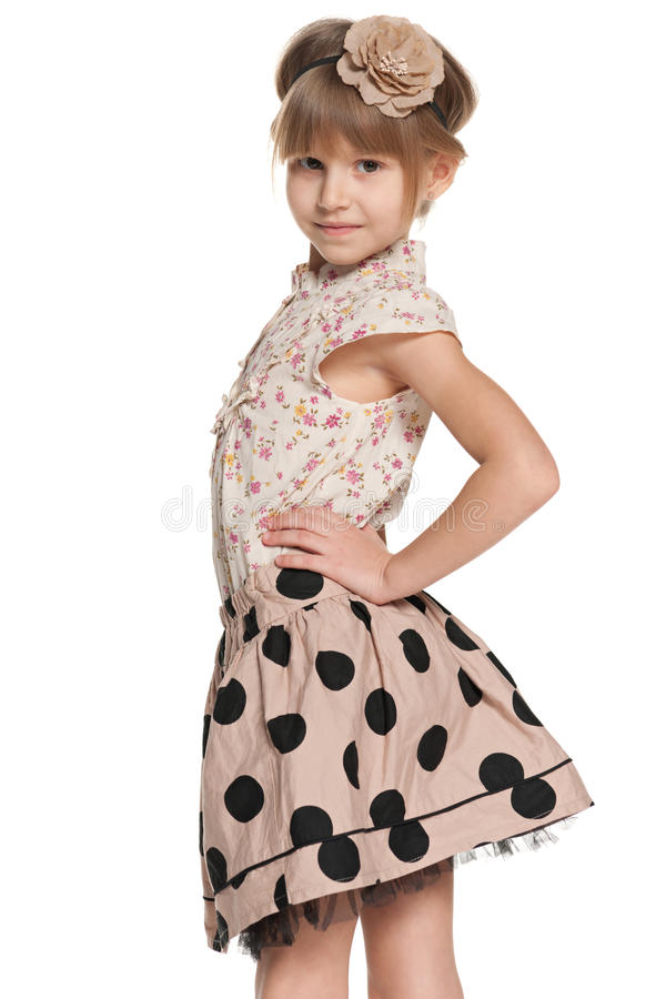 Lovely young girl stock photo