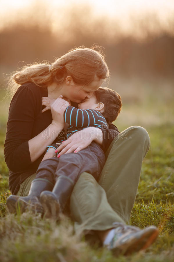Lovely young mother with son royalty free stock image