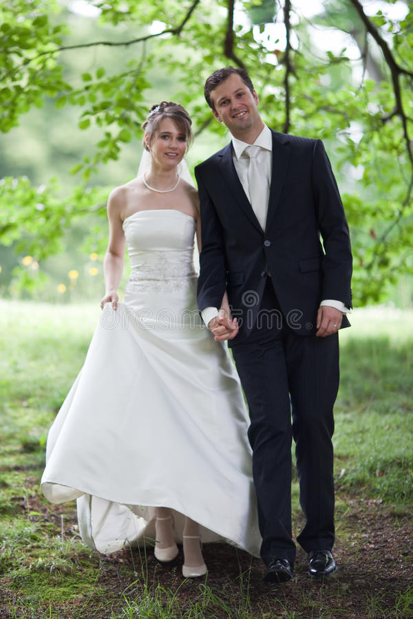 Lovely young wedding couple