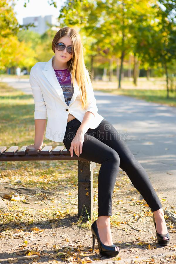 Lovely young woman royalty free stock photo