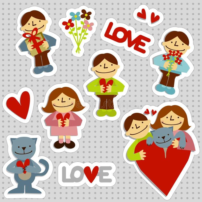 Download LOVEman Stickers stock vector. Image of friendship, birthday - 8061149