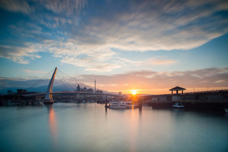 Lover Bridge of Tamsui stock images