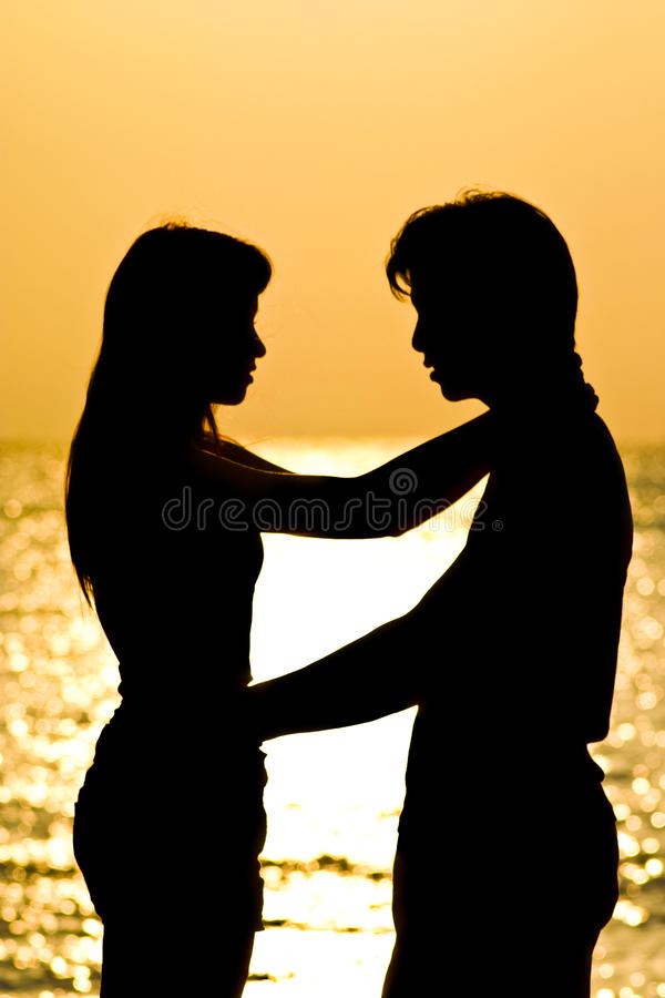 Download Lover Hug stock photo. Image of sunset, sweet, silhouette - 21219196