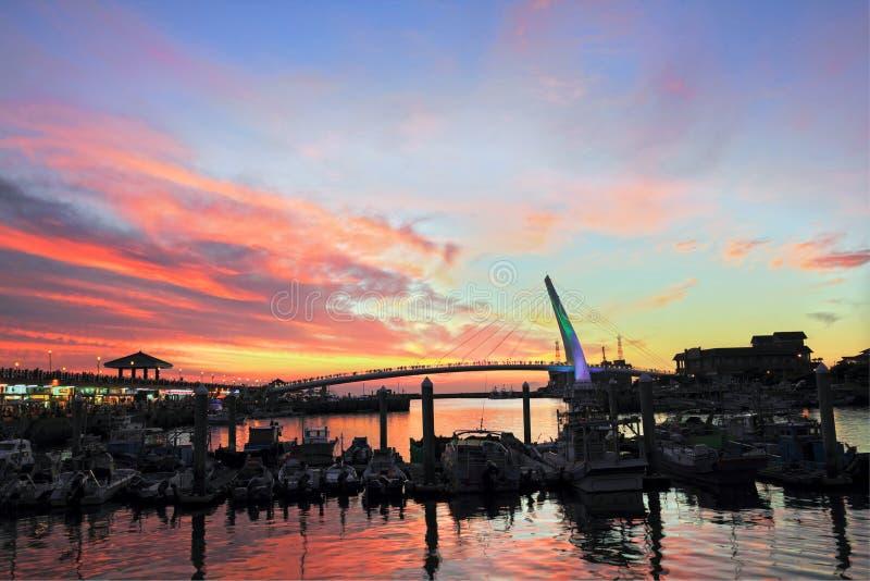 Lover's Bridge, in Taipei, Taiwan. Lover's Bridge ,Tamshui Fisherman's Wharf, Taipei, Taiwan (taiwan famous scene stock images