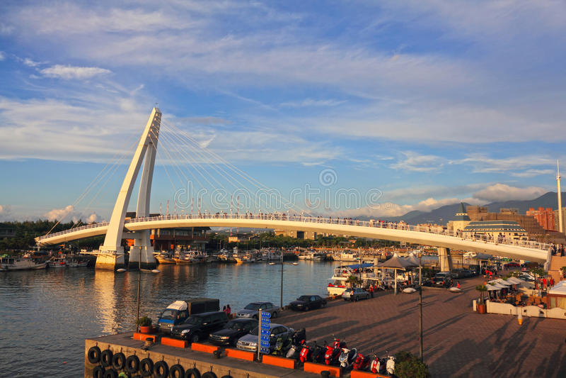 Lover's Bridge, in Taipei, Taiwan. Lover's Bridge ,Tamshui Fisherman's Wharf, Taipei, Taiwan (taiwan famous scene royalty free stock photo