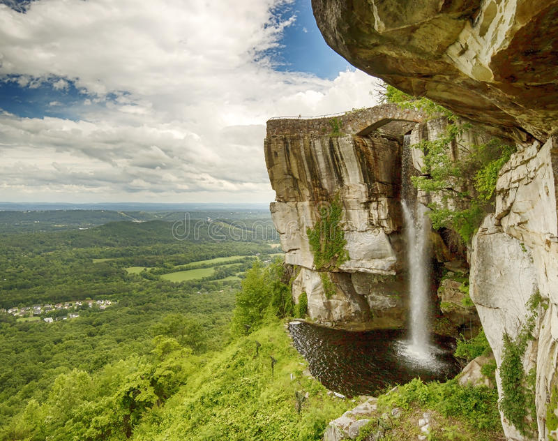 Lover`s leap and falls stock photos