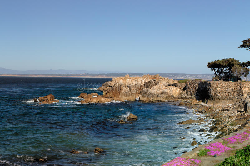 Lover's Point at Pacific Grove, California. royalty free stock photography