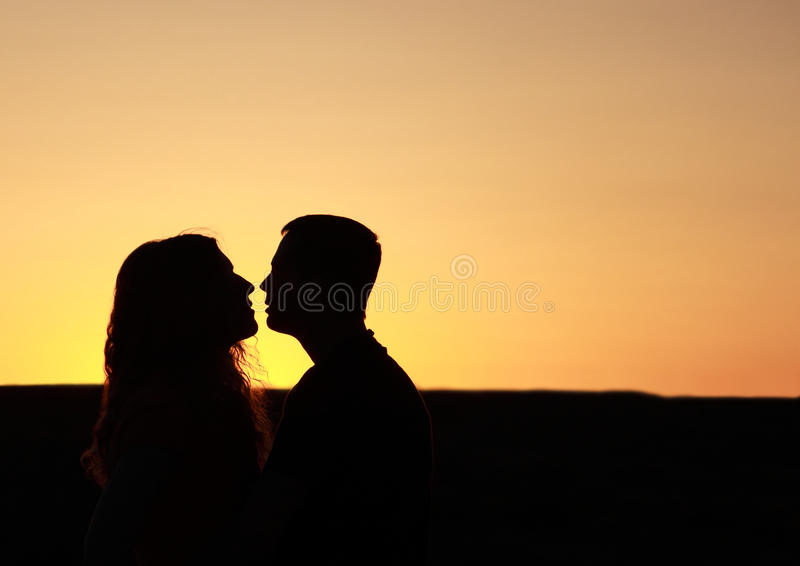 Download Lover's Silhouette stock image. Image of kiss, passion - 22314235