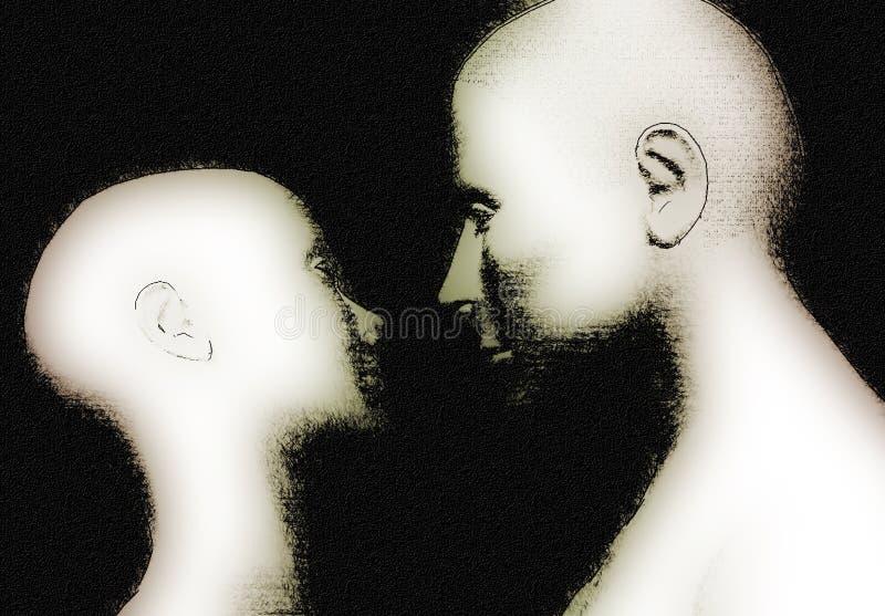 Download Lovers stock illustration. Illustration of kiss, girl, gaze - 194029