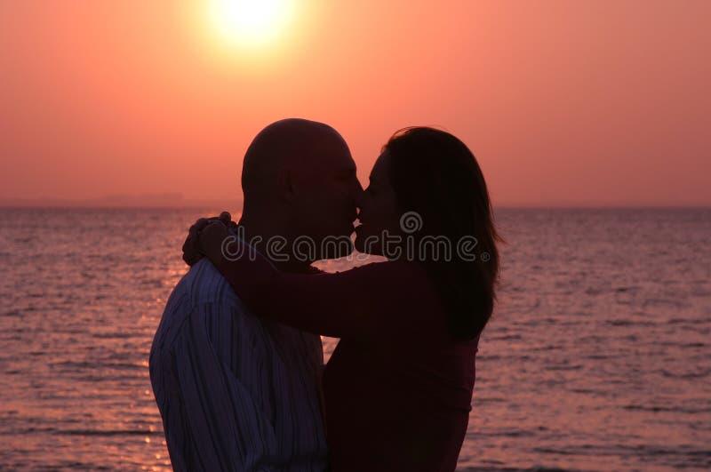Download Lovers 2 stock image. Image of sunrise, kissing, hugging - 476661