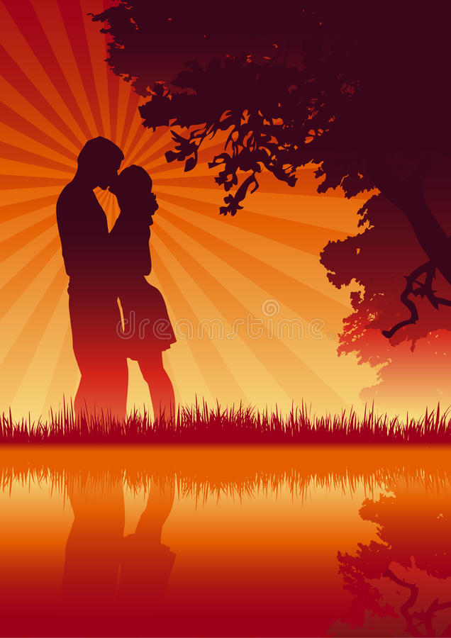 Lovers. Vector illustration of lover couple stock illustration