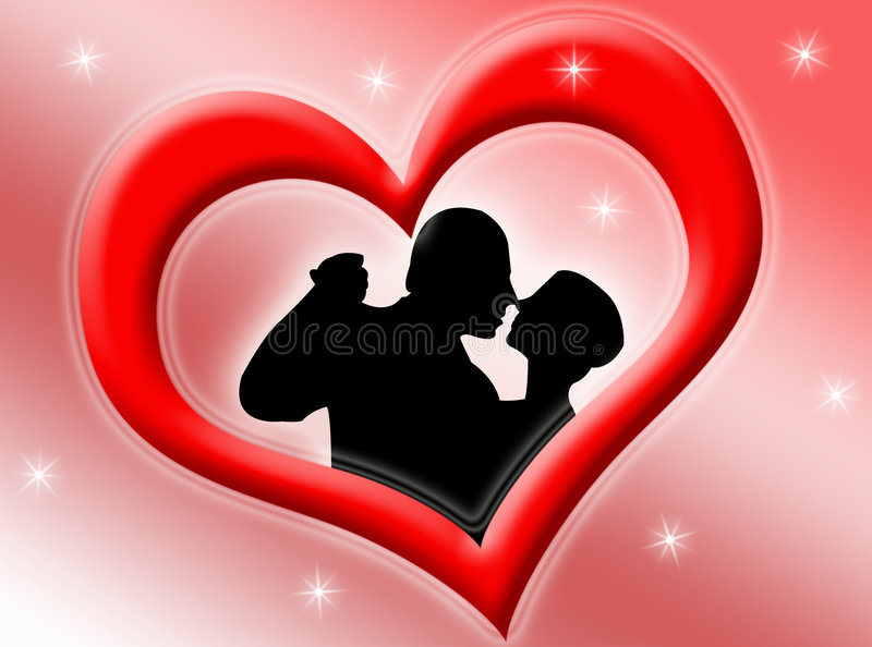 Lovers stock illustration